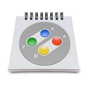 Bloco de Anotações Joystick 16-bits Color