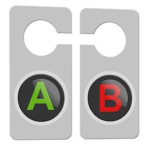 Aviso de Porta Gamer Botões A e B