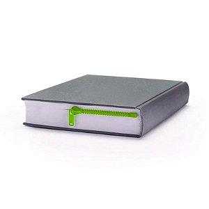 Marcador de Livro Zíper - verde