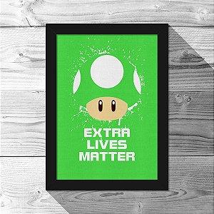 Quadro A4 Cogumelo Extra Lives Matter - 21 x 30 cm