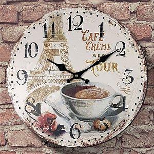Relógio de Parede Café Creme ala Tour