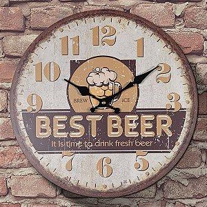 Relógio de Parede Best Beer