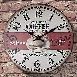 Relógio de Parede Roasted Coffee