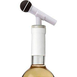 Tampa para garrafa Microfone - branco