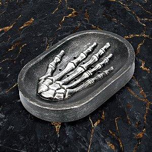 Saboneteira mão Esqueleto caveira Skull Hand em resina