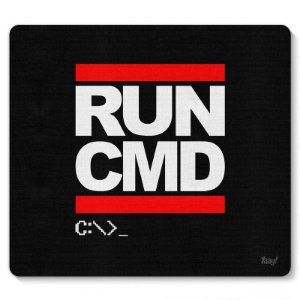 Mouse pad Hacker Run CMD