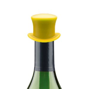 Tampa para garrafa Chapéu - amarelo