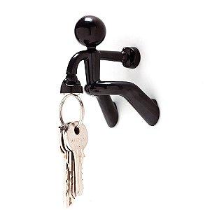 Porta chaves boneco magnético - preto