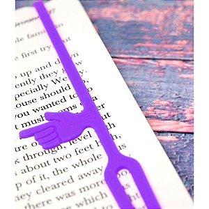 Marcador de Páginas com indicador de parágrafo - roxo