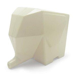 Porta Talheres Escorredor Elefante - creme