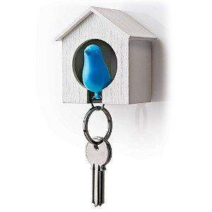 Porta Chaves e Chaveiro Passarinho Sparrow Key Ring - azul