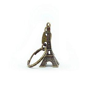 Chaveiro em Metal Torre Eiffel - bronze