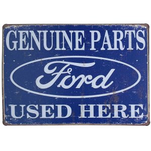 Placa de Metal Ford Genuine Parts - 30 x 20 cm