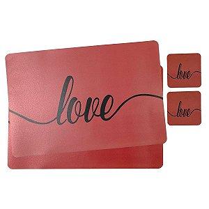 Jogo Americano Love - 4 peças