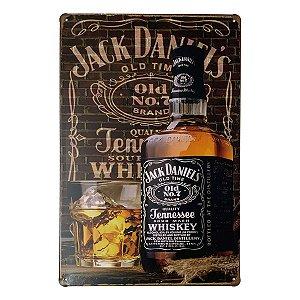 Placa de Metal Whisky Jack Daniel's - 30 x 20 cm