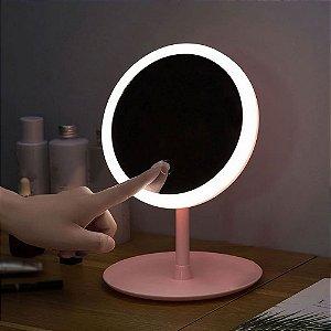 Espelho Makeup LED - rosa