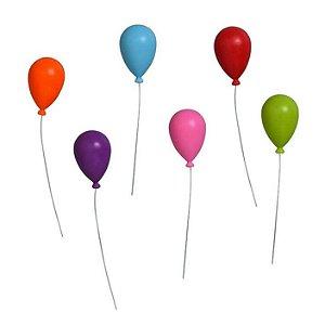Imãs decorativos Balões - 6 peças