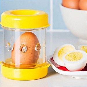 Descascador de Ovos Cozidos Pratico e Rápido