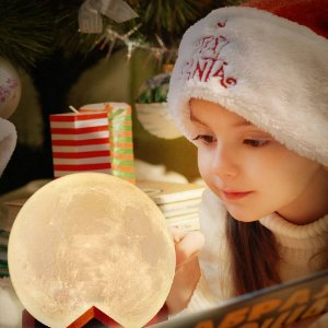 Luminária Decorativa Lua Cheia 8 Cores