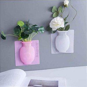 Vaso Adesivo para Flores e Plantas Silicone Reutilizável