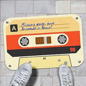 Tapete Fita Cassete K7 Músicas para ouvir lavando a Louça
