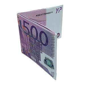 Carteira Slim Dinheiro Nota de Euro