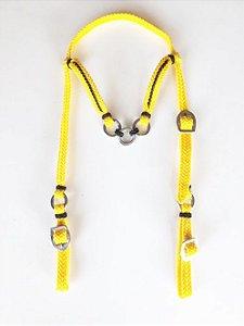 Cabeçada Cordinha Amarelo Com Preto