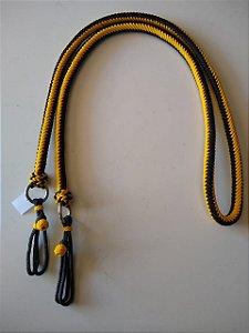Redea amarela e preta trançada