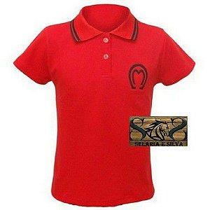 Camisa Polo Mangalarga Feminina- Vermelha