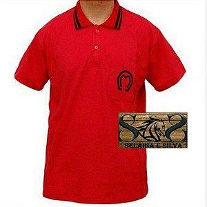 Camisa Polo Mangalrga Masculina- Vermelha