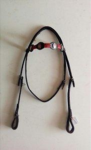 Cabeçada couro trança em corda