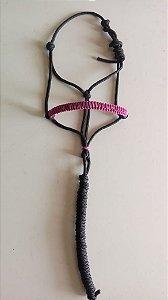 Cabresto de corda rosa