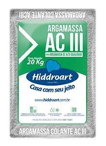 Argamassa Hiddroart ACIII 20 Kg Hiddroart