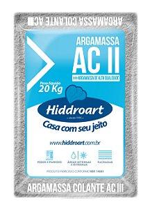 Argamassa AC II Cinza 20 Kg Hiddroart