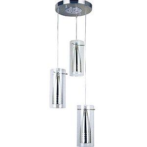 Lustre Design TD 333/3 P/ 3 Lâmpadas Taschibra