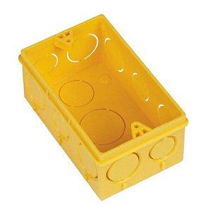 Caixa de Luz Eletro Flex 4x2 Amarelo