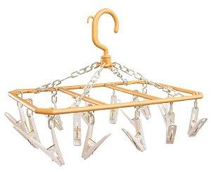 Varal Mini Retangular Standard com 14 Pregadores Secalux