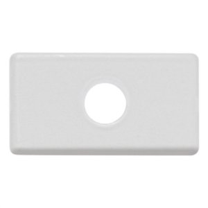 Módulo Tampo com 1 Furo 9,5 mm Tramontina Branco Tramontina