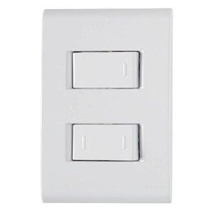 Conjunto Interruptor simples 10A 250V + Interruptor Parelolo 10A 250V Tramontina