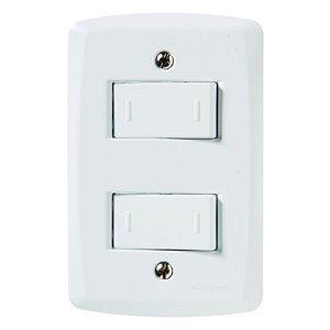 Conjunto 4X2 2 interruptores paralelos 10A 250V Tramontina