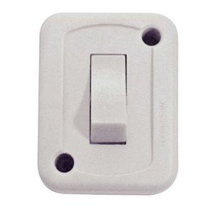 Interruptor de Sobrepor 1 Tecla Simples 10A 250 V Branco Embalagem Flow Pack Tramontina