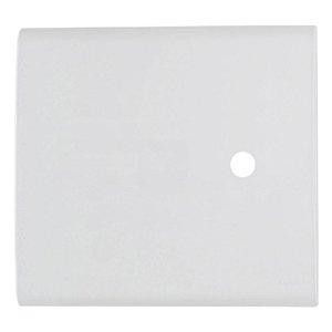 Placa com 1 Furo 4x4 9,5 mm Liz Branca Tramontina