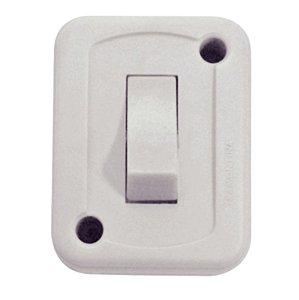 Interruptor de Sobrepor 1 Tecla Simples 10A 250 V Branco Tramontina