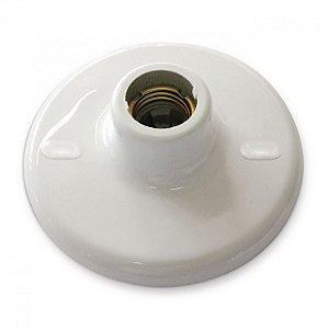 Plafon Plastico Branco Com Bocal de Porcelana 1XE27 Blumenau