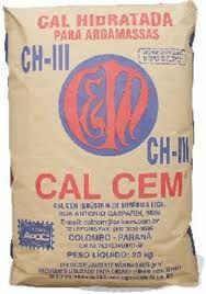 Saco de Cal Hidratado CH-lll 20Kg