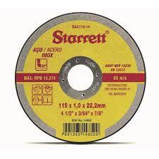 Disco Corte 115X1,0X22,2MM (4.1/2 X 3/64 X 7/8) Starrett