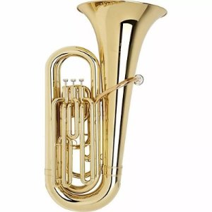 Tuba 3 Pistos Laqueada 3/4 Afinação Sib  - Bm
