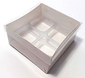 Caixas para 04 doces c/20 unidades (altura 4 cm)