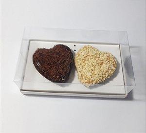Caixa para 2 Corações de Colher  - Pacote c/ 20 unidades
