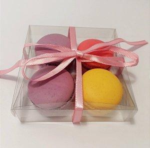 Caixa para 04 Macarons c/20 unidades